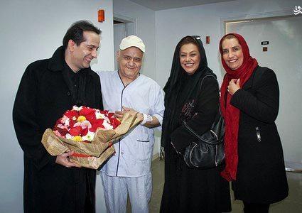 تصاویر اکبر عبدی در بیمارستان