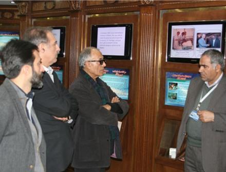 kiyarostami بازدید کیارستمی از موزه صلح و دیدار با جانبازان