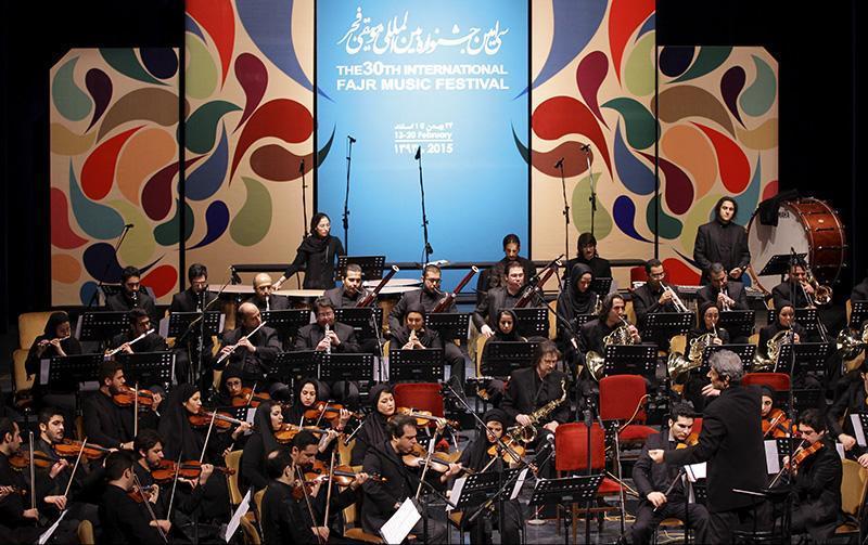 orkester%201 تصاویر اجرای ارکستر تهران در جشنواره فجر