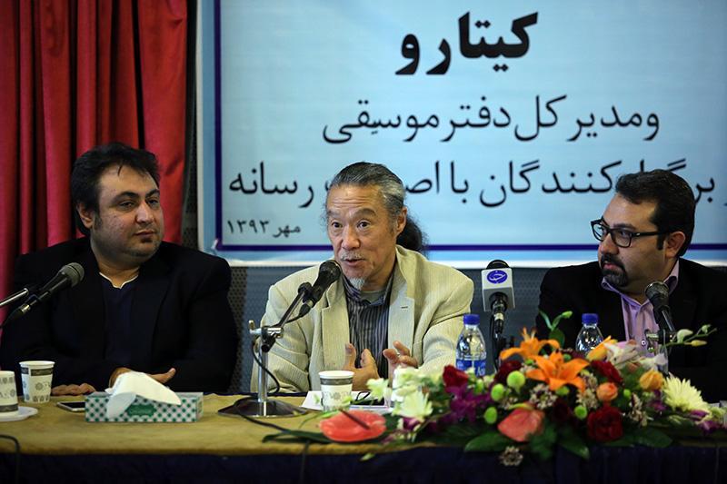 نشست خبری کیتارو پس از اولین روز کنسرت تهران