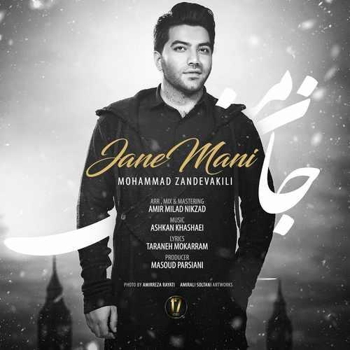دانلود آهنگ جدید محمد زند وکیلی بنام جان منی