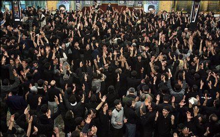 عزاداری شب جهرم محرم ۱۳۹۱ مسجد حسینیه اعظم زنجان